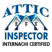 Attic inspector certification seal.