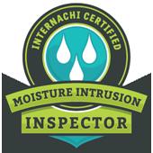 Moisture Intrusion inspector certification seal.