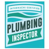 Plumbing inspector certification seal.