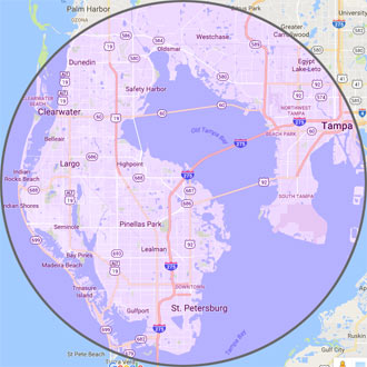 Map of the Tampa Bay Area