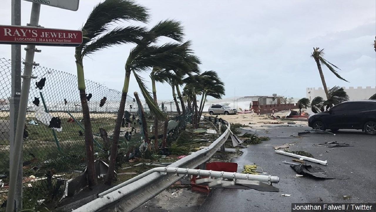 Image of a coastal hurricane.